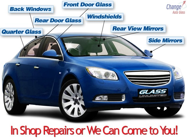 Inshop or Mobile Service Auto Glass